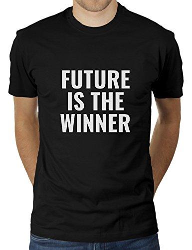 Future is The Winner KaterLikoli - Camiseta para hombre Profundo Negro XXL