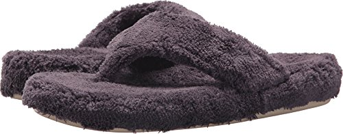 Acorn Women's Spa Thong with Premium Memory Foam Slipper, Squid Ink, 8-9