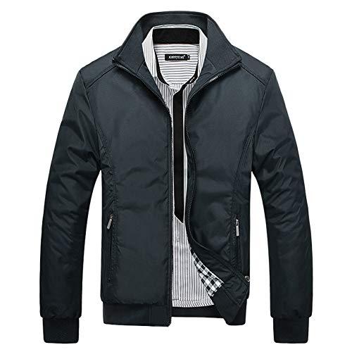 SHANGYI Jacket Heren Winter Jas Stand Collar Jas Warm Windbreaker Running Baseball Jas