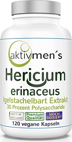 aktivmen´s Hericium erinaceus 120 Kapseln - hochdosiert - mit 30{ebba407c527795935e760210fab141adb761f02579f38421e92c38e0fbcb3792} Polysaccharide - Igelstachelbart Vital Pilz Extrakt - vegan - 1 Dose (1 x 72,9 g)