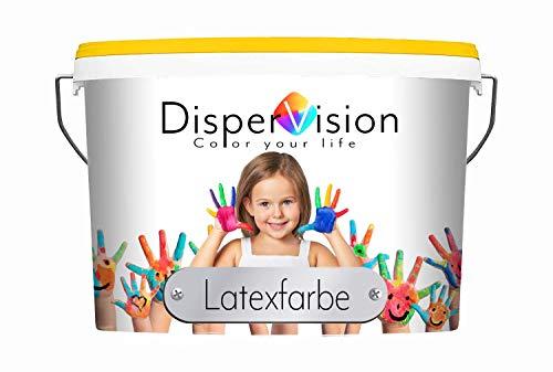 DisperVision Latexfarbe matt weiß/getönt Latexwandfarbe für innen Hochdeckend - ABWISCHBAR & ATMUNGSAKTIV (2,5 L, Weiß)