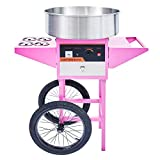 CO-Z Commercial Candy Maker Electric Cotton Candy Machine and Roller Stand, Candy Floss Maker for Various Parties