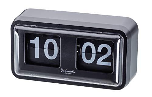 Eichmüller since 1950 Retro Flip Uhr mit Gehäuse - schwarz schwarz
