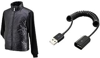 ヘンリービギンズ(HenlyBegins) 電熱ベスト テラヒート ブラック S USB延長ケーブルセット