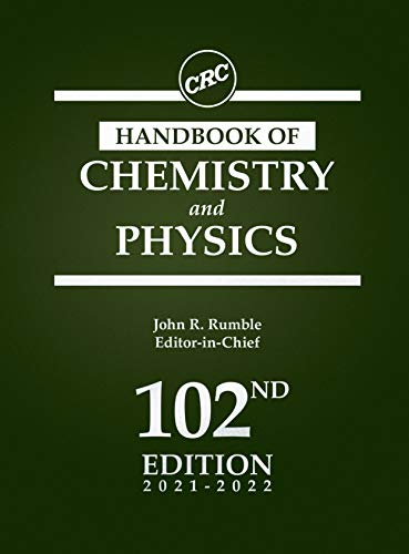 Compare Textbook Prices for CRC Handbook of Chemistry and Physics 102 Edition ISBN 9780367712600 by Rumble, John