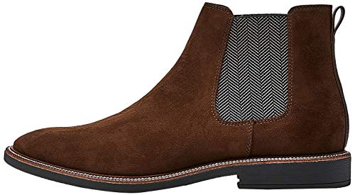 find. Marsh Herren Chelsea Boots Stiefel, Braun (Chocolate/Black), 46 EU