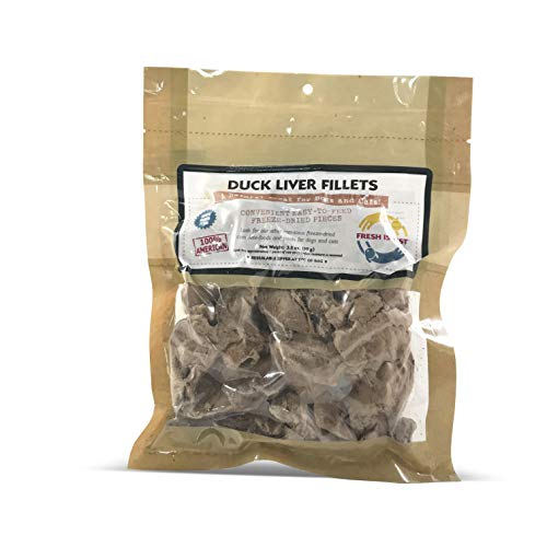 Fresh Is Best Freeze Dried Raw Duck Liver, Dog & Cat Treats (Duck...