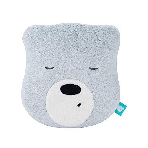 myHummy Einschlafhilfe Baby Bär Mini Hellgrau | White Noise Baby Einschlafhilfe Kinder zur Baby Beruhigung | My hummy Mini Einschlafhilfe Babys mit sanftem Ausklingen nach 1 Stunde