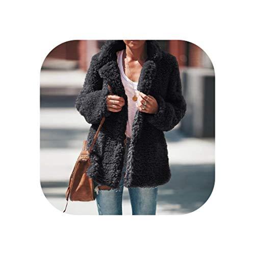 Goods-Store-uk Winter Aankomst Vrouwen Flannel Lange Mouw Jas Dames Warm Bovenkleding Vest Jas