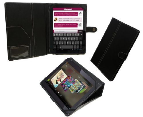 Navitech Bycast Leder Hülle/Hülle/Tasche für das Odys IEOS Quad 10.1 Zoll Tablet-PC