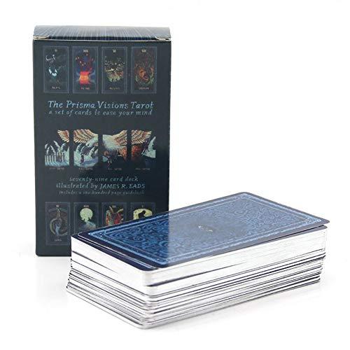 78Pcs Prisma Tarot Tarot Karten Englische Version Tarot Deck Brettspiel für Frauen Family Party Tischspiele