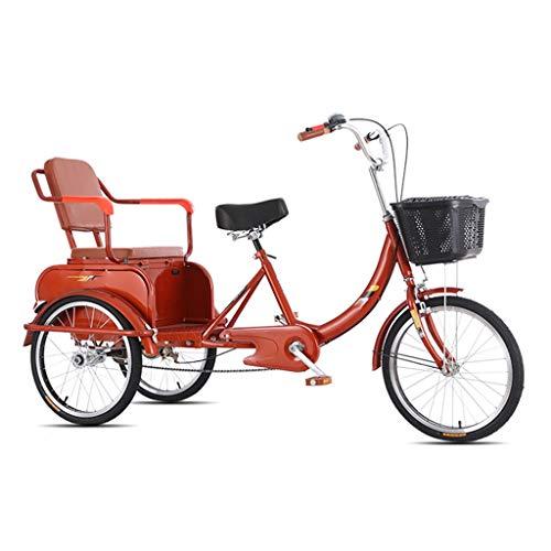 OFFA Dreiräder 3-Rad-Bikes Adult Tricycle Senioren, Dreirad Trike 20 Zoll Dreirädrigen Cruise Fahrrad Lastenfahrrad Mit Großer Größe Korb,for Freizeit, Shopping, Übung Männer Frauen Bike