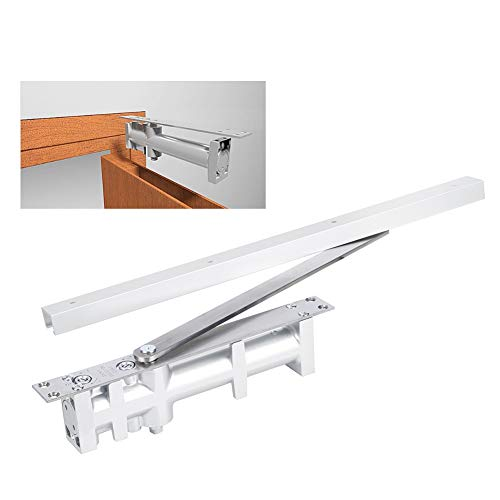 Automatic Door Closer, Hydraulic Door Closer, Stable High‑Hardness Aluminum Office for Home Apartment Garage