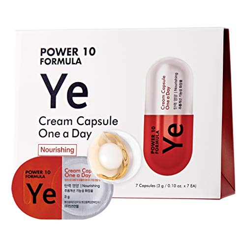 It'S SKIN Power 10 Formula YE Cream Capsule One a Day 3g 7 Count - Pore Tightening & Nourishing, High Concentration 2 in 1 Sleeping Cream Mask, Cream Ball in Serum, 1 Week Home Skin Care