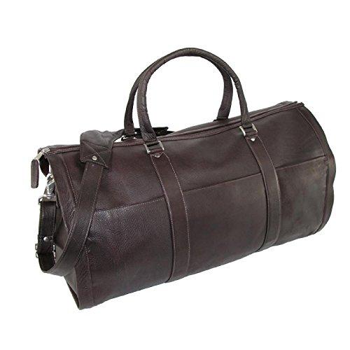 Leather Impressions Reisetasche aus Leder, braun (Braun) - 10145-BRN