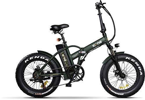 Icon.e Green, Bici Elettrica Pieghevole Marines 250W Gioventù unisex, no size