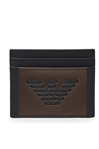 Emporio Armani hombre fundas para tarjetas de visita black/bronze