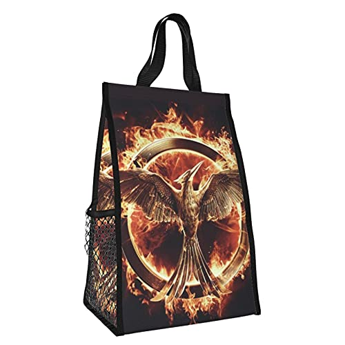 The Hunger Games Laugh Bird Foldable Insulation Pack Picnic Bag Insulated Refrigerated Tote Bag Lunch Feast Camping Trip