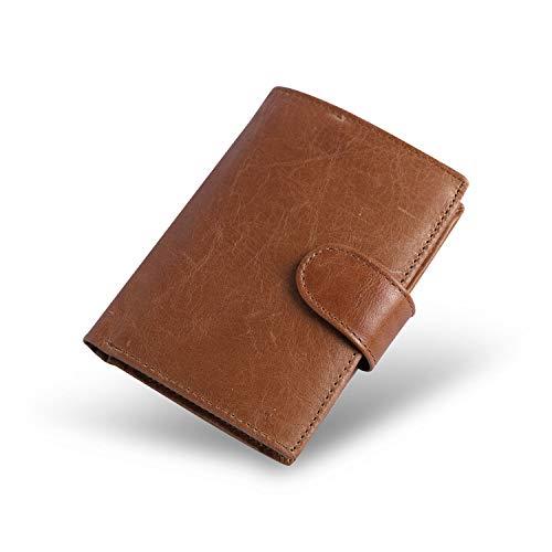 Conisy Geldbörse Herren Echt Leder Geldbeutel mit RFID Schutz - Männer Portemonnaie mit Viel Kartenfächer (braun)