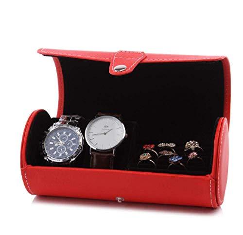 XLAHD Schmuckschatulle Uhrenschachtel Männer Frauen Geschenk Reisen Schmuckschatullen Cuero Künstliche Uhr Vater Aufbewahrungsschachtel