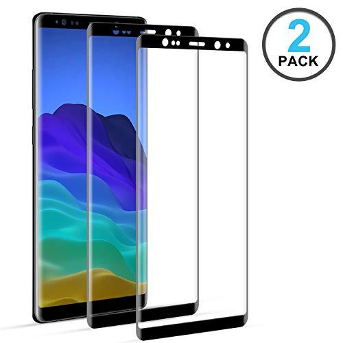 DOSNTO Panzerglas Schutzfolie Samsung Galaxy Note 8 2 Pack 3D Gebogen, Anti Kratzgehärtetes Glas Displayschutzfolie, HD Fingerabdruck kostenlos Glas BildschirmSchutz Schutzfolie