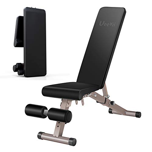 UeeVii Adjustable Weight Bench, Workout Bench Foldable, Bench Press Weight Bench, Strength Training Adjustable Benches for Full Body Workout Weight Lifting
