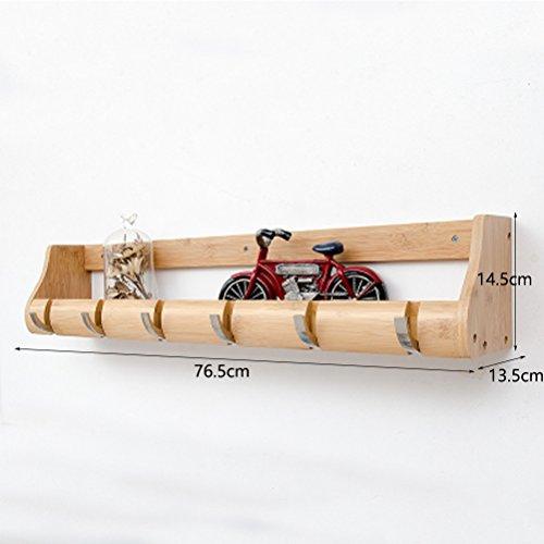 ZI LING SHOP- Slaapkamer Wandrekken Woonkamer Partities Wandplank Creatieve Haak (Bruin) Plank