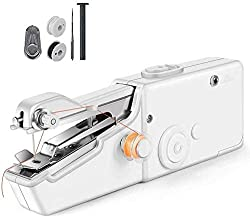 Swizmo™ Handheld Sewing Machine, Portable Mini Electric Cordless Sewing Machine for kids Beginners, Quick Stitch for Fabric, Clothing, Kids Cloth, Used in Home,Travel or Working,Forethought Outdoor