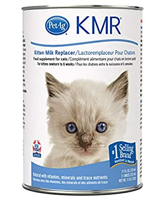PetAg KMR Liquid Replacer for Kittens & Cats, 11oz Can, Whites & Tans (99509-1)