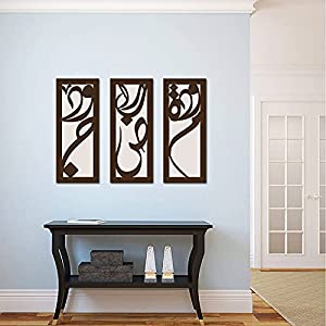 Calligraphy Wooden Tableau, 175X175 Cm - Set Of 3 Pieces