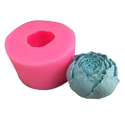 didatecar Blütenknospe Silikonform DIY Dreidimensionale Fondantform Zur Herstellung Von Schokoladengelee-Pudding