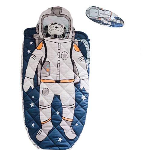YAYIDAY Schlafsack für Kinder, Kleinkind, 100% Baumwolle, Schlafsack, Nickerchen, Decke, weich, warm, für Mädchen und Jungen, Schlafsack für Reisen Modern Astronaut