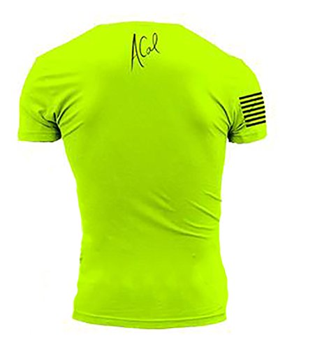 Grunt Style ACAL - Blue Collar Hero Men's T-Shirt, Color Safety Green, Size Medium