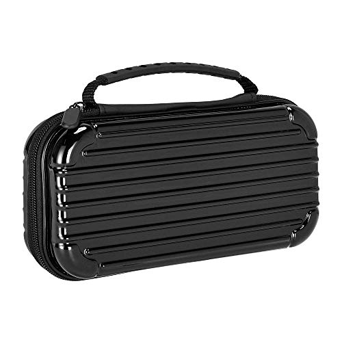 Lammcou Carry Case for Nintendo Switch Carrying Case Portable Travel Hard Shell Pouch for Nintendo Switch Joy Con, Console, Cable,hdmi Gamecards Storage for Games Mario Zelda Pokemon Odyssey Black