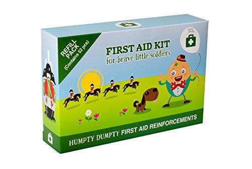 Erste-Hilfe-Set für Kinder – ideal für unterwegs, 52-teilig, mit süßen Pflastern und Belohnungsstickern, Reiseverbandstasche