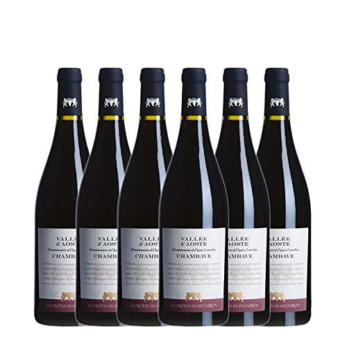 LA CROTTA DI VEGNERON Chambave Rouge 70% Petit Rouge, 30% altri vitigni tradizionali della vallata 2019 13% (6 X 0,75 l)