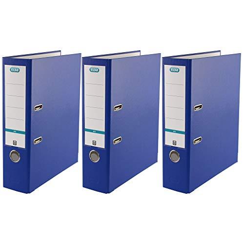 ELBA Ordner A4, Kunststoff, blau, 3er Pack