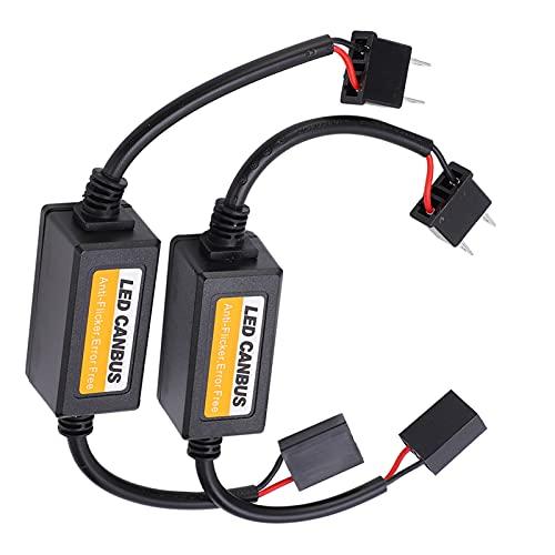 KUIDAMOS Decodificador LED, cancelador de fallas de luz LED Fácil de Instalar y Usar Alerta de Falla del decodificador de Bus Canbus con Resistencia de Carga y Alarma de Falla para la detección de
