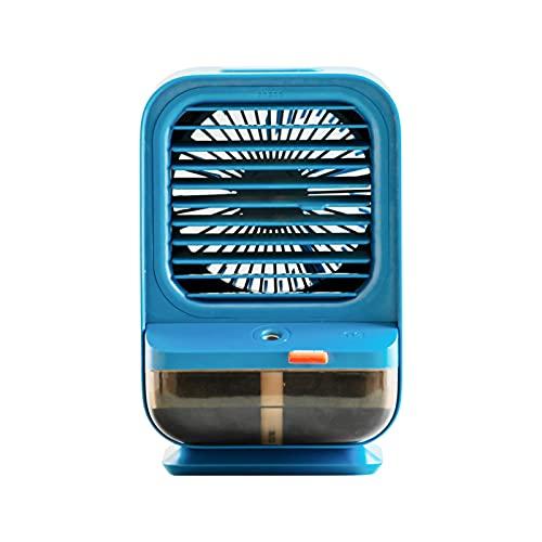Raffreddatore d'aria portatile raffreddatore d'aria Condizionatore d'aria Portatile Evaporativo Cooler Umidificatore Mini Desktop Raffreddamento Ventilatore d'aria raffreddatori per la casa (blu)