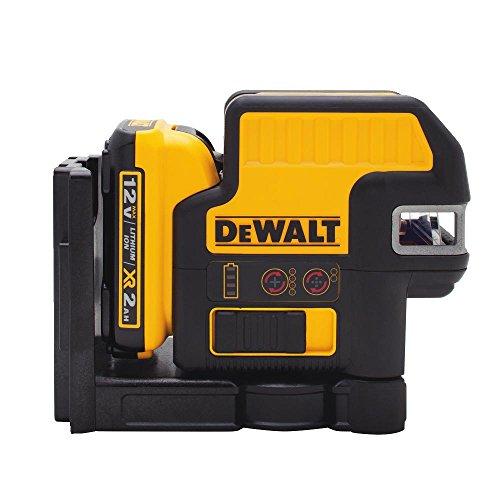 DEWALT 12V MAX Laser Level, 2 Spot + Cross Line Laser, Red, 165-Foot Range (DW0822LR)