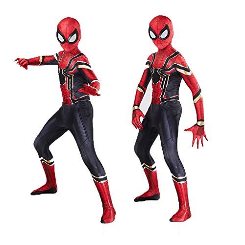 SPIDER NI Actuando en Papel de Vestuario de Iron Man Nios, 3D Digital Estiramiento de la impresin del Mono, pelcula de Anime Complementos Disfraz (Color : Kids, Size : M)