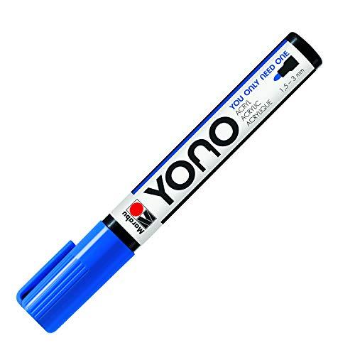Marabu YONO 12400103053 12400103053 - Rotulador acrílico (punta redonda japonesa, resistente a la luz y al agua, para casi todas las superficies, 1,5-3 mm)