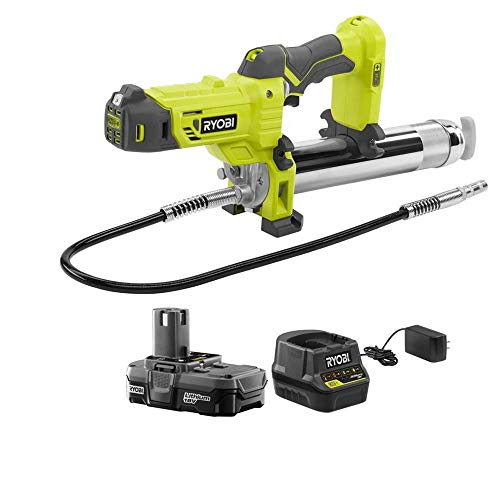 Ryobi P3410KN 18-Volt ONE+ Lithium-Ion Cordless Grease Gun Kit with 1.3 Ah Battery and Charger