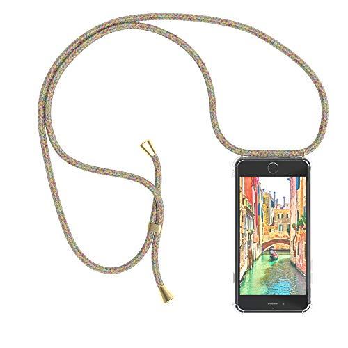 EAZY CASE Handykette kompatibel mit iPhone 6 / 6S Handyhülle mit Umhängeband, Handykordel mit Schutzhülle, Silikonhülle, Hülle mit Band, Stylische Kette mit Hülle für Smartphone, Rainbow