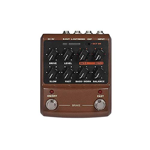 WSMLA Dimension Digital Modulation Guitar Effects Pedal 11 Mode of Phaser Chorus Tremolo Vibrato rotary speaker simulator pedal 2-in-1 Rotary Speaker Simulator & Polyphonic Octave Guitar
