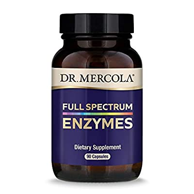 Dr. Mercola, Full Spectrum Enzymes Dietary Supplement, 30 Servings (90 Capsules), Digestive Support, non GMO, Soy Free, Gluten Free