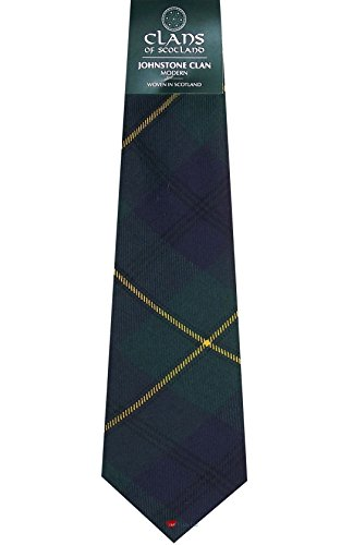 I Luv Ltd Johnstone Clan 100% Wool Scottish Tartan Tie