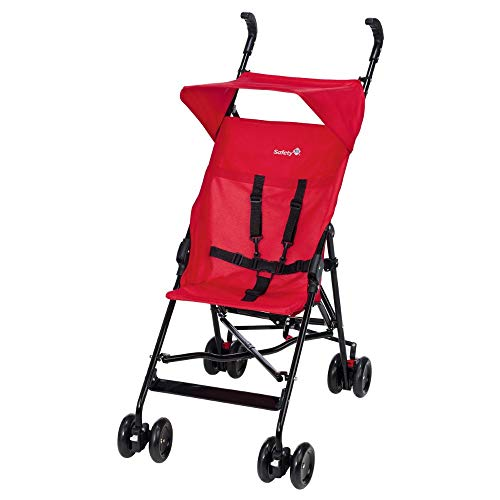 Safety 1st Poussette Canne Fixe Peps + Canopy Plain Red
