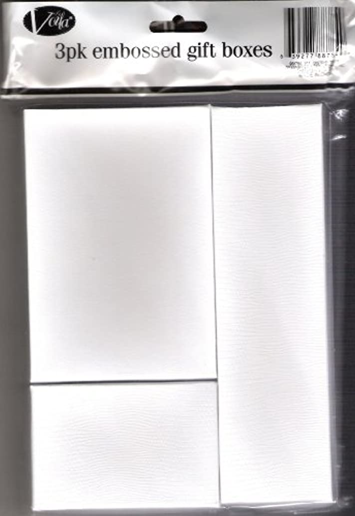 3 Pack Embossed Gift Boxes