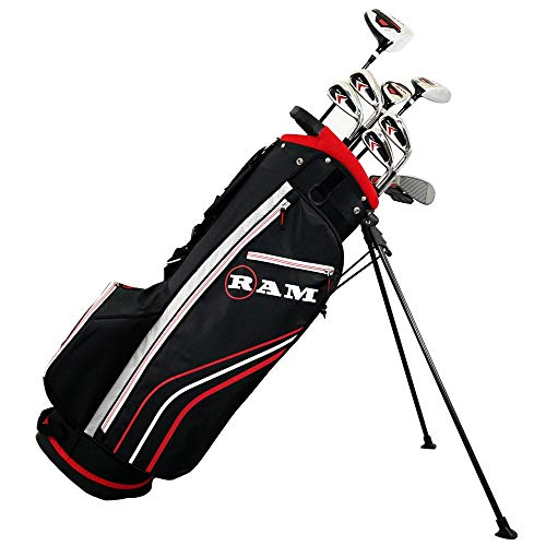 Ram Golf Accubar Golf Clubs Set - Graphite Shafted Woods, Steel Shafted Irons - Mens Left Hand